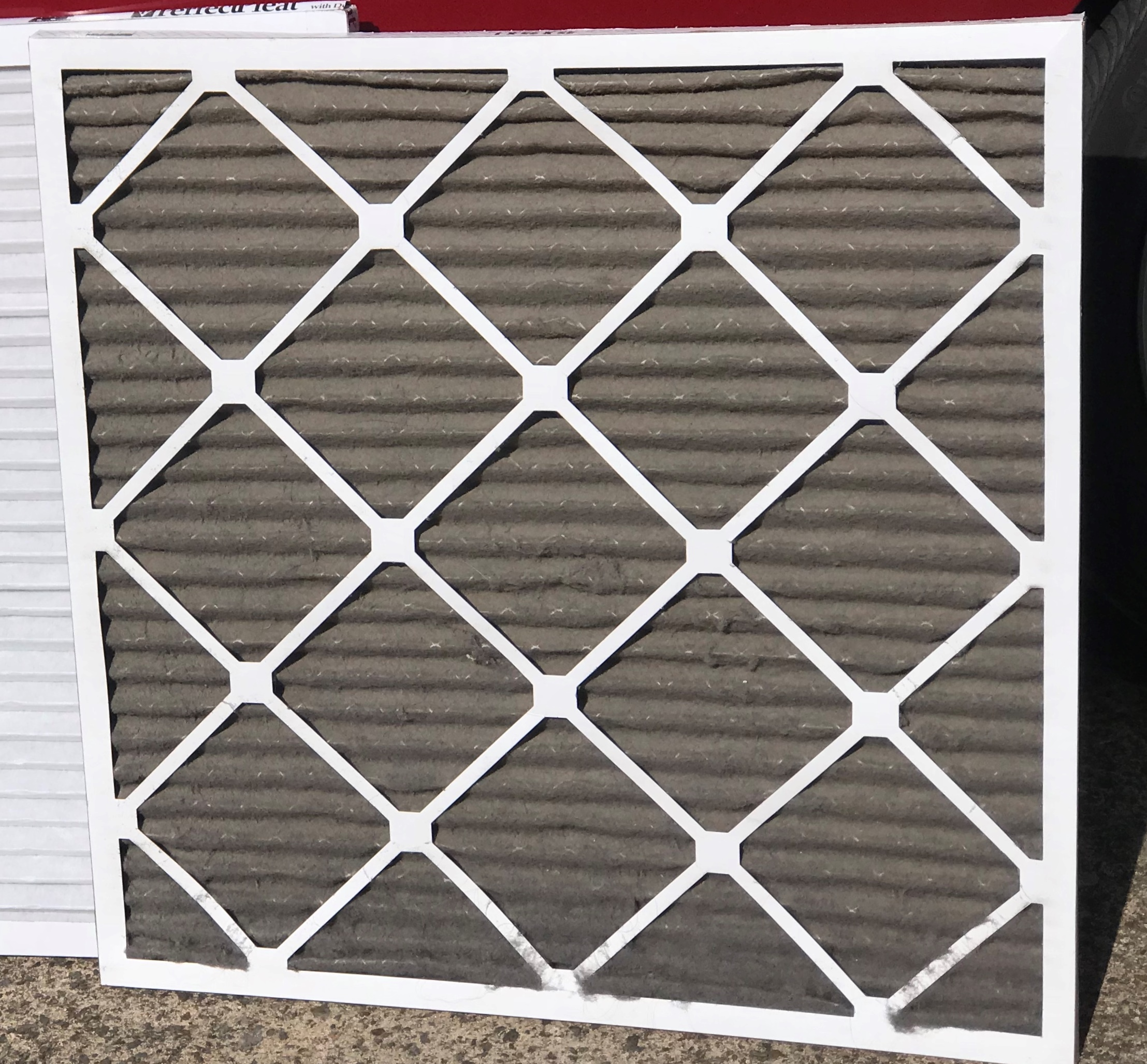 A dirty HVAC filter