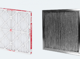 A pleated disposable HVAC air filter and a reusable electronic filter.